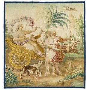 Tapis, tapisseries, tissus anciens, passementerie