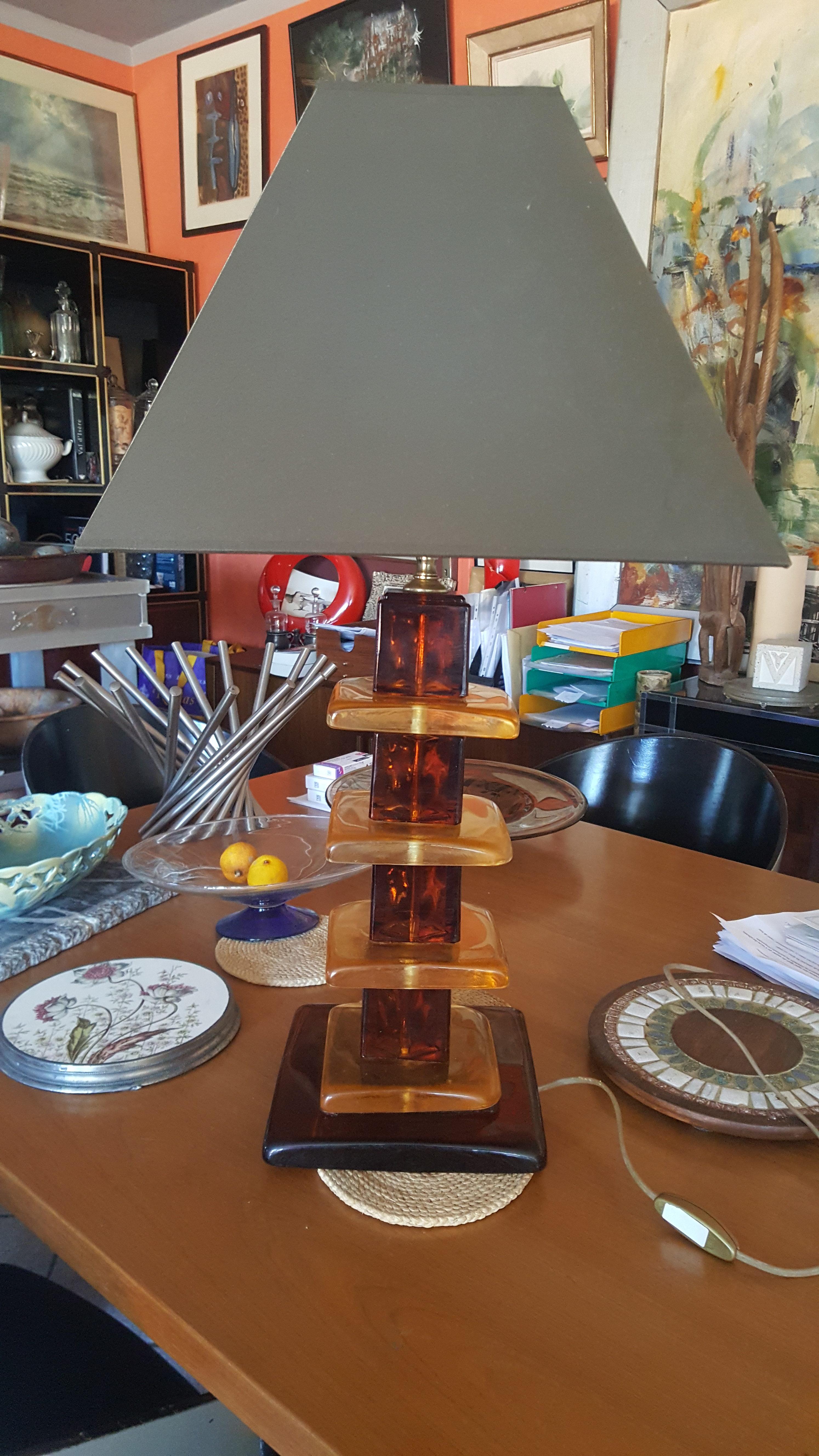 Datant des lampes à huile de verre