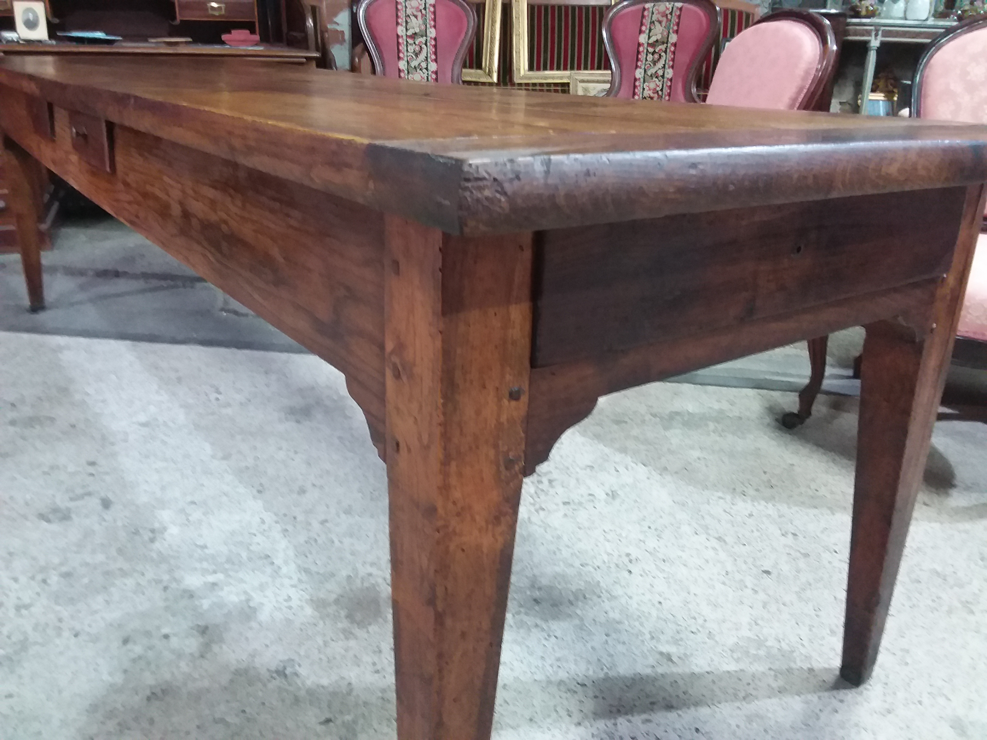 Table de Ferme en chêne d'époque XIXe   Les antiquaires de Pézenas