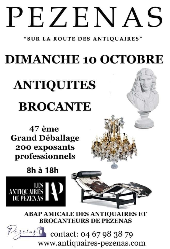 Les brocanteurs et antiquaires de Pézenas (Hérault) organisent leur grand déballage d'automne le dimanche 10 octobre 2021